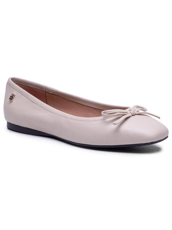 Balerini dama Tommy Hilfiger Essential Square Toe Ballerina FW0FW05635 bej