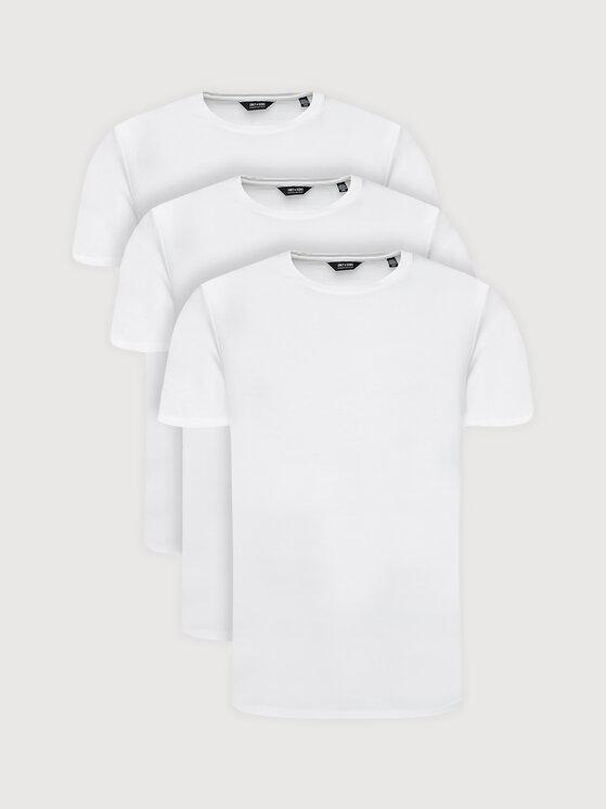 Only & Sons 3 marškinėlių komplektas Matt Life Longy 22013782 Balta Regular Fit