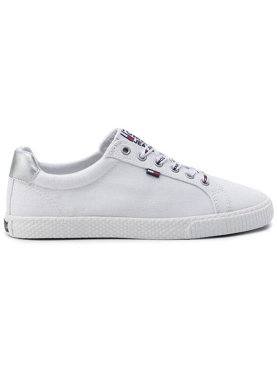 Tommy Jeans Tommy Jeans Tennis Casual Sneaker EN0EN00602 Blanc