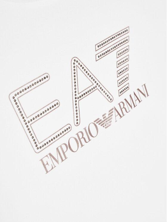 EA7 Emporio Armani EA7 Emporio Armani Bluzka 6HFT55 FJ5GZ 1100 Biały Regular Fit