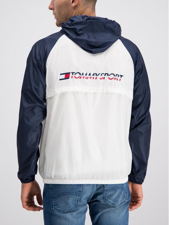 Tommy Sport Tommy Sport Αντιανεμικό S20S200143 Λευκό Regular Fit