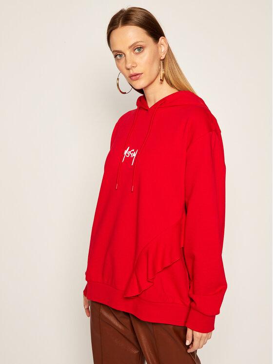 MSGM Džemperis 2941MDM78 207799 Raudona Oversize