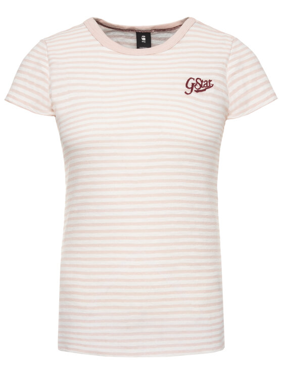 G-Star Raw G-Star Raw Tričko D14712-9024-A676 Ružová Regular Fit