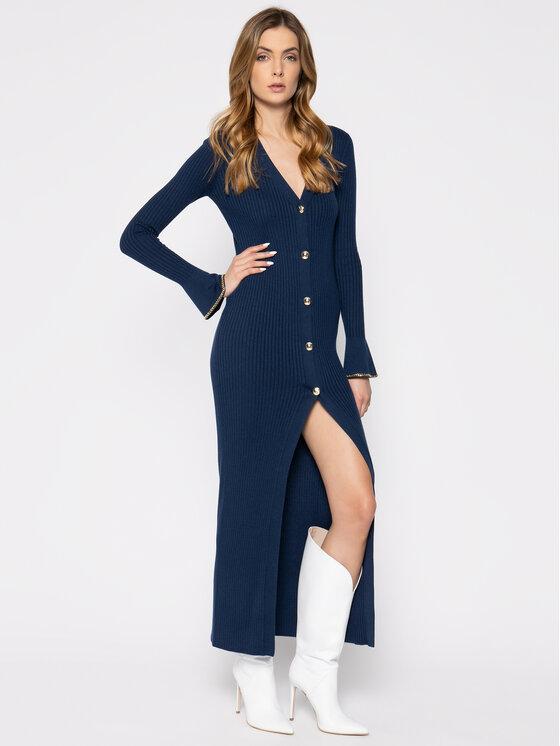 Patrizia Pepe Patrizia Pepe Φόρεμα υφασμάτινο 8S0307/A6G6-C789 Σκούρο μπλε Slim Fit