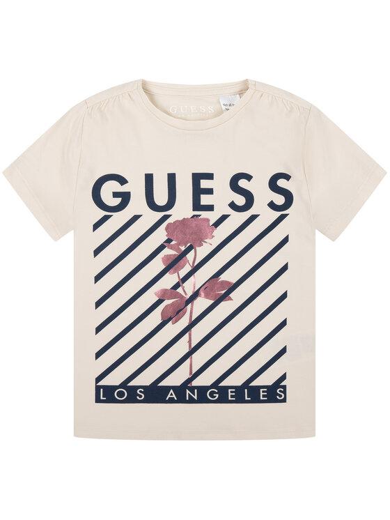 Guess Guess Marškinėliai J93I27 K82K0 Smėlio Regular Fit