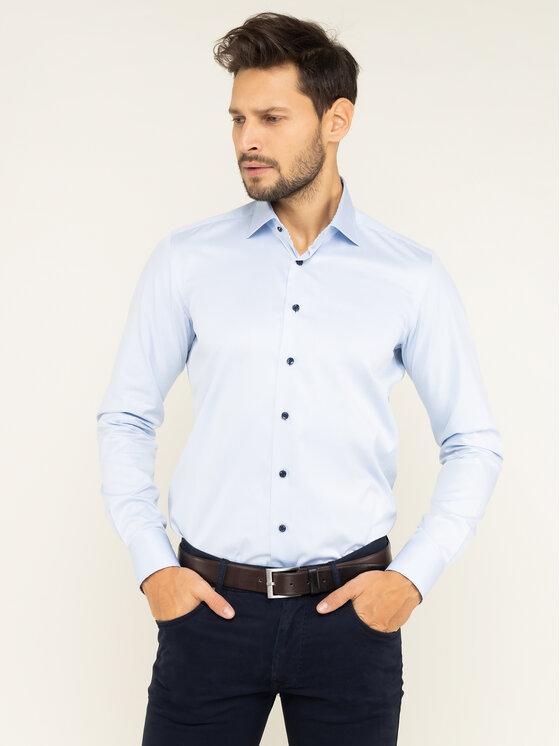 Emanuel Berg Marškiniai Crown MCR37 Mėlyna Slim Fit