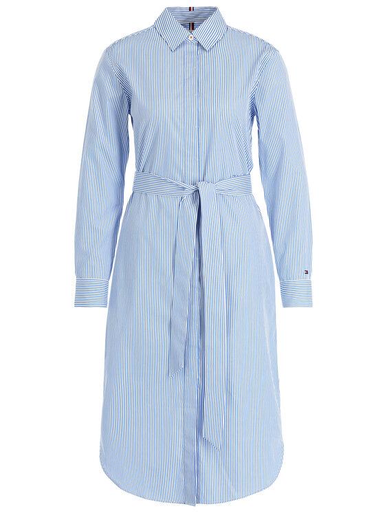 Tommy Hilfiger Tommy Hilfiger Košeľové šaty WW0WW25286 Modrá Regular Fit
