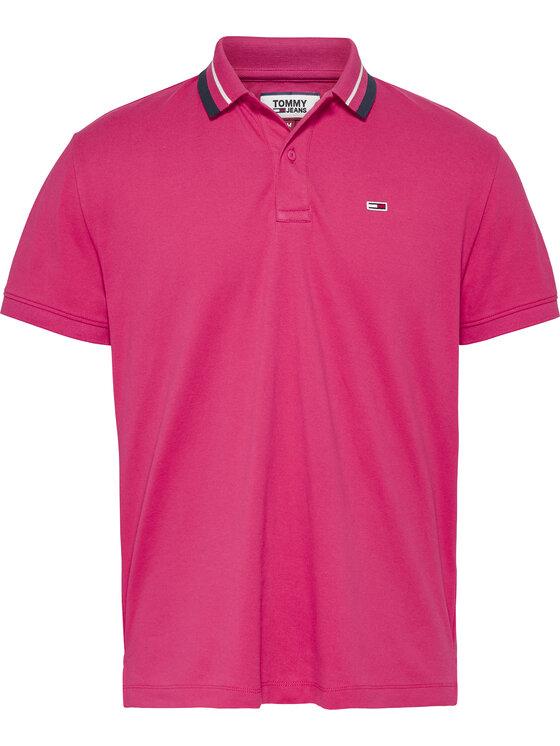 Tommy Jeans Tommy Jeans Polo marškinėliai Classics Tipped DM0DM07195 Rožinė Regular Fit