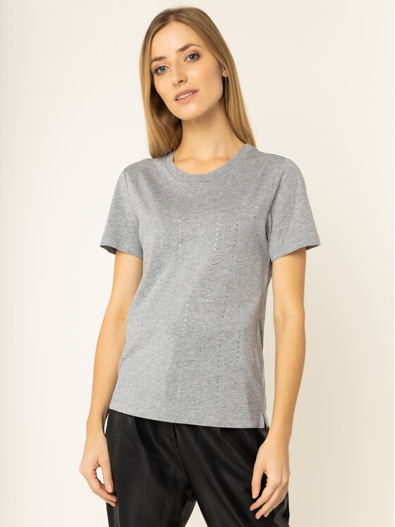 Guess Guess Marškinėliai Krystal Tee W01I70 K46D0 Pilka Regular Fit
