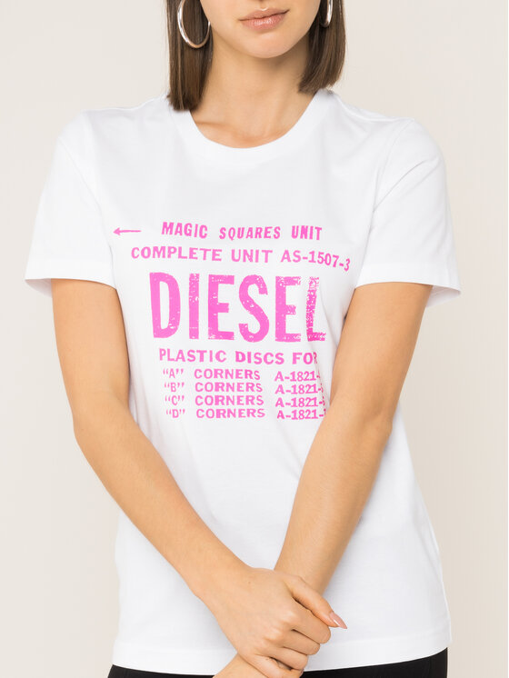 Diesel Diesel T-shirt T-Sily-Zf 00SYVT 0091A Bianco Regular Fit