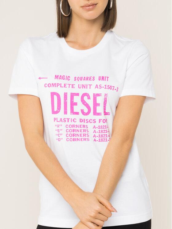 Diesel Diesel T-Shirt T-Sily-Zf 00SYVT 0091A Weiß Regular Fit
