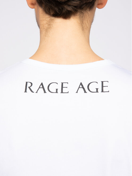 Rage Age Rage Age Тишърт Painted Scull 1 Бял Slim Fit