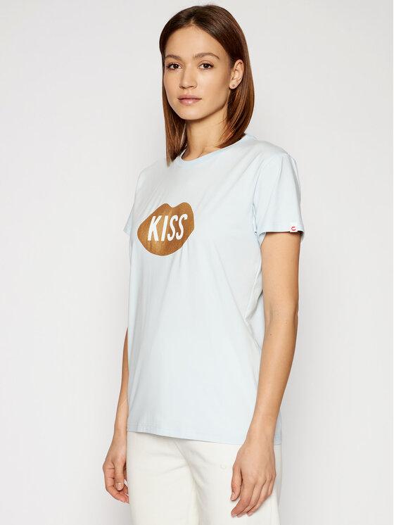 PLNY LALA Marškinėliai Kiss PL-KO-CL-00185 Mėlyna Classic Fit