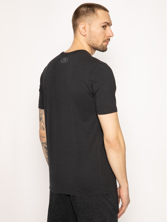 Under Armour Under Armour Tricou Ua Boxed Sportstyle 1329581 Negru Loose Fit
