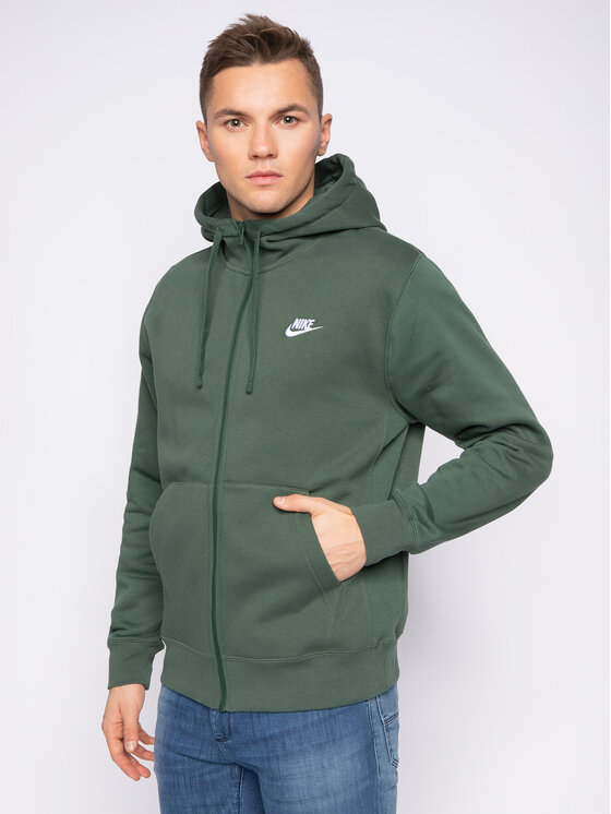 Nike Nike Bluza Sportswear Club Fleece BV2645 Zielony Standard Fit