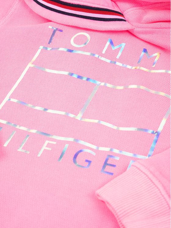 Tommy Hilfiger Tommy Hilfiger Pulóver Essential Flag KG0KG04938 D Rózsaszín Regular Fit