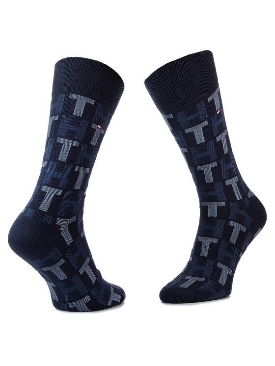 Tommy Hilfiger Tommy Hilfiger Lot de 3 paires de chaussettes hautes unisexe 492002001 Bleu marine