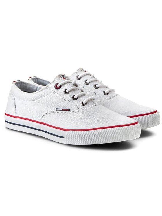 Tommy Hilfiger Tommy Hilfiger Sneakers aus Stoff DENIM - Vic 2D - 1 EM56818632 Weiß