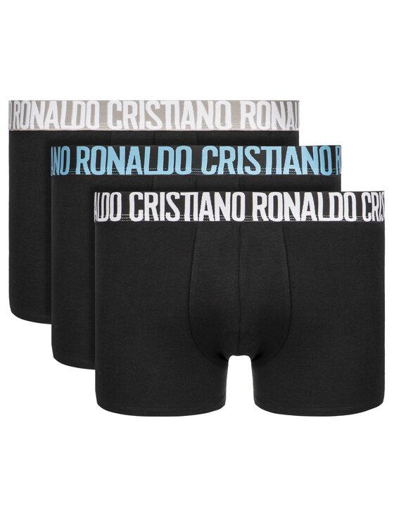 Cristiano Ronaldo CR7 Cristiano Ronaldo CR7 Set 3 perechi de boxeri Basic Trunk 3-Pack 8100-49-2712 Negru