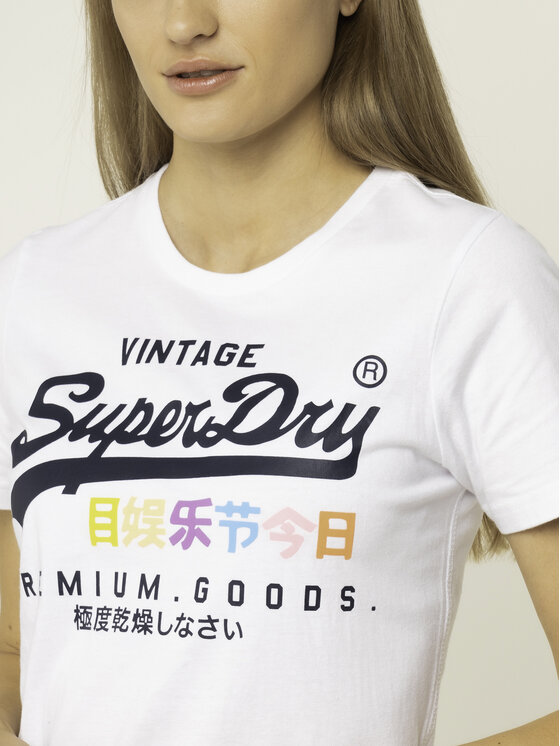 Superdry Superdry T-Shirt Premium Goods Puff G10306AU Biały Regular Fit