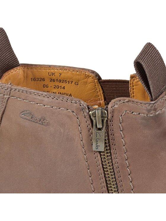 Clarks Clarks Обувки Novato Zip 261025177 Кафяв