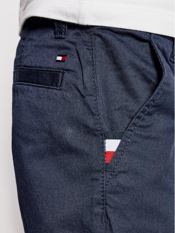 Tommy Hilfiger Tommy Hilfiger Szorty materiałowe Essential Chino KB0KB06322 D Granatowy Slim Fit