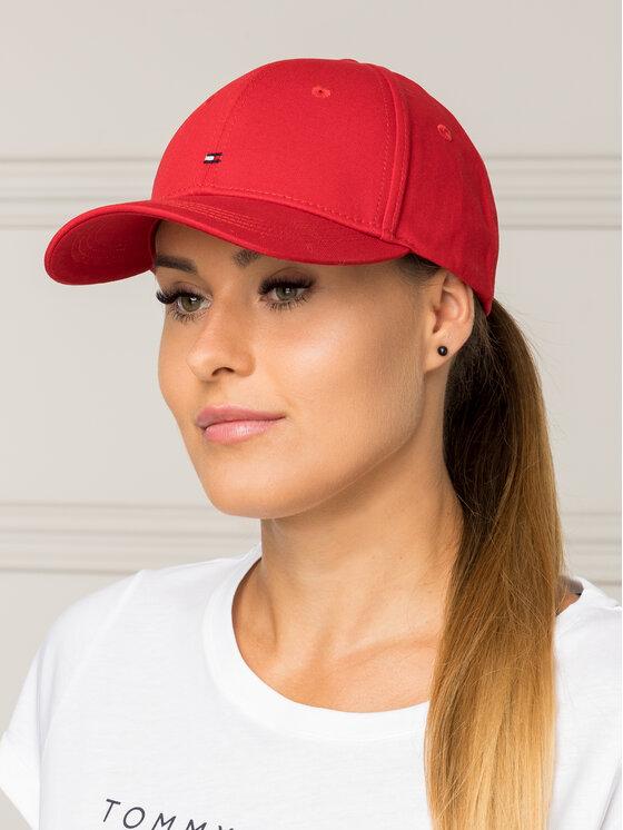 Tommy Hilfiger Tommy Hilfiger Καπέλο Jockey Classic BB Cap AW0AW05080 Κόκκινο