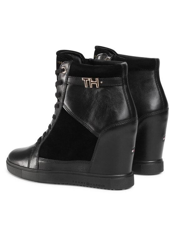 Tommy Hilfiger Tommy Hilfiger Sneakers Hardware Sneaker Wedge FW0FW04303 Negru