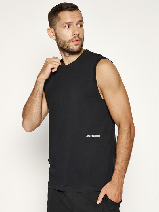 Calvin Klein Calvin Klein Komplet 2 tank topów 000NM1687A Czarny Regular Fit