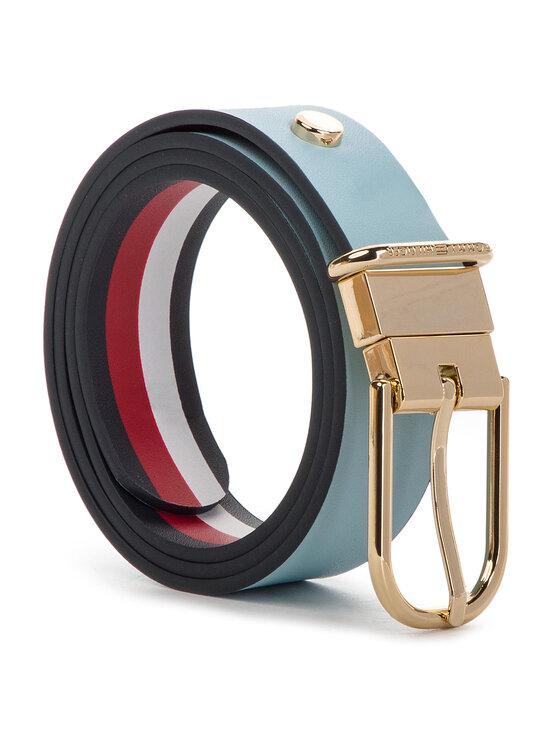Tommy Hilfiger Tommy Hilfiger Dámský pásek New Fancy Reversible Belt 3.0 AW0AW06554 Modrá