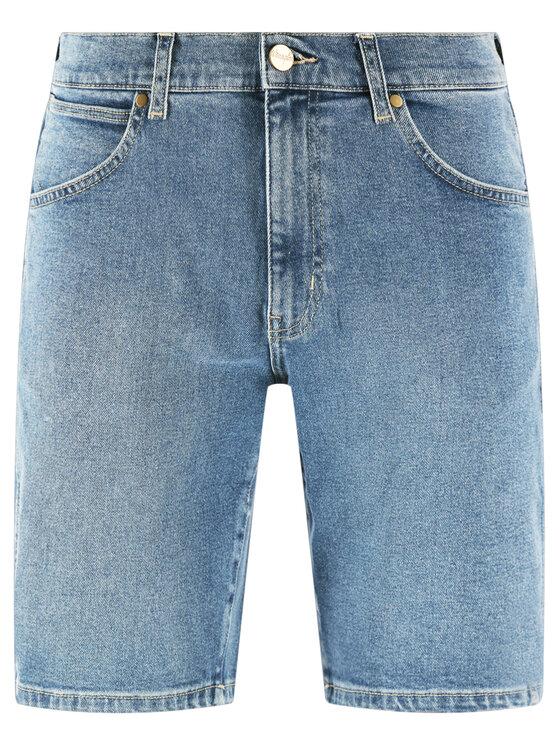 Wrangler Wrangler Τζιν σορτσάκια 5 Pocket W14CKP34F Σκούρο μπλε Regular Fit