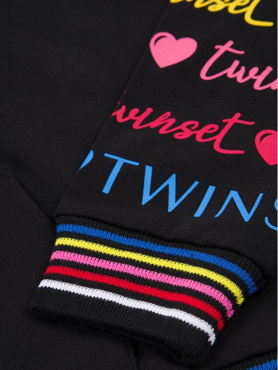 TwinSet TwinSet Mikina 999GJ2012 Černá Regular Fit