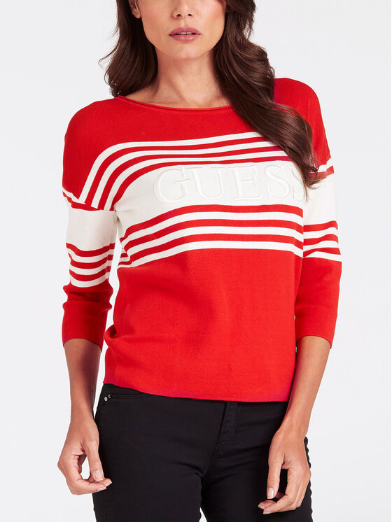Guess Guess Pullover W93R90 Z2G00 Rot Regular Fit
