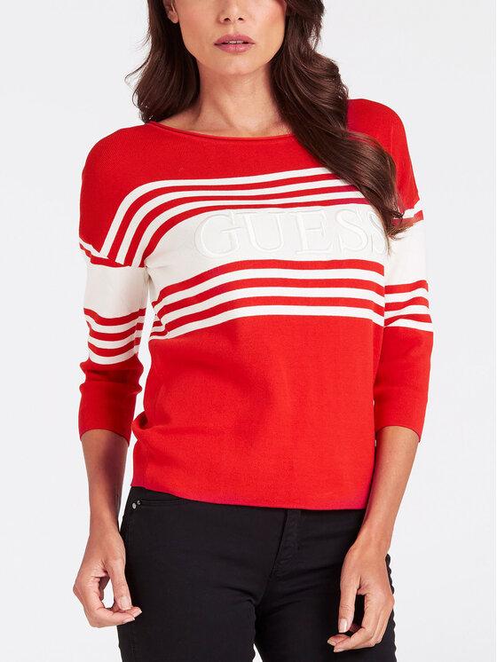 Guess Guess Пуловер W93R90 Z2G00 Червен Regular Fit