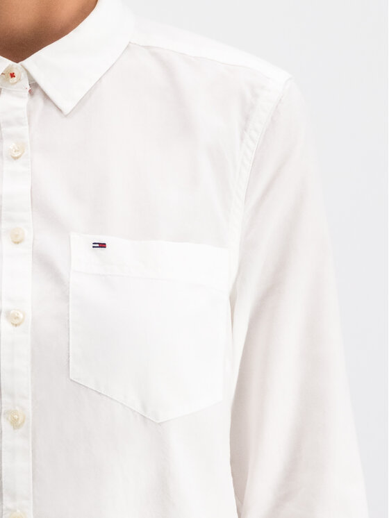 Tommy Jeans Tommy Jeans Chemise Tjw Original Light DW0DW04433 Blanc Regular Fit