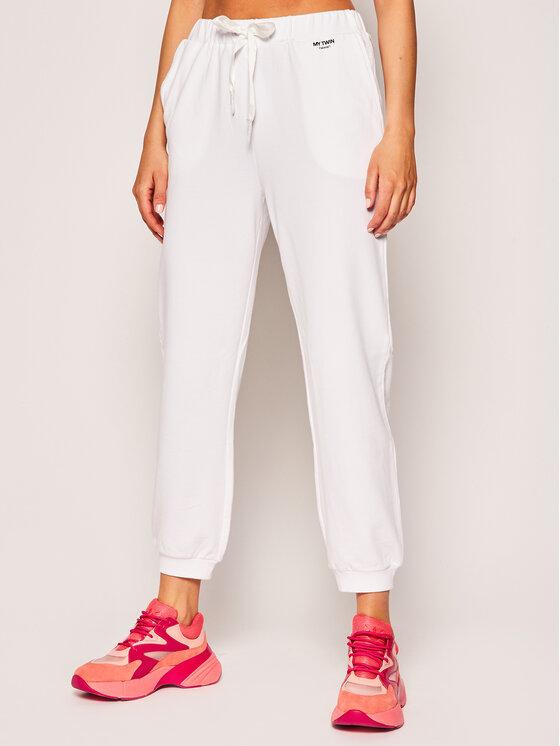 My Twin My Twin Παντελόνι φόρμας 201MT2122 Λευκό Regular Fit