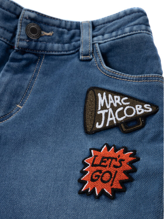 Little Marc Jacobs Little Marc Jacobs Szorty jeansowe W24211 Granatowy Regular Fit