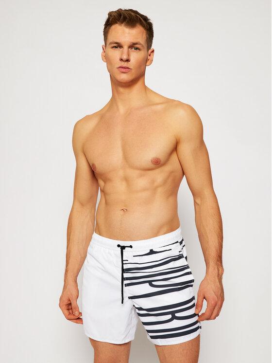 Emporio Armani Emporio Armani Szorty kąpielowe 211740 1P424 69210 Biały Regular Fit