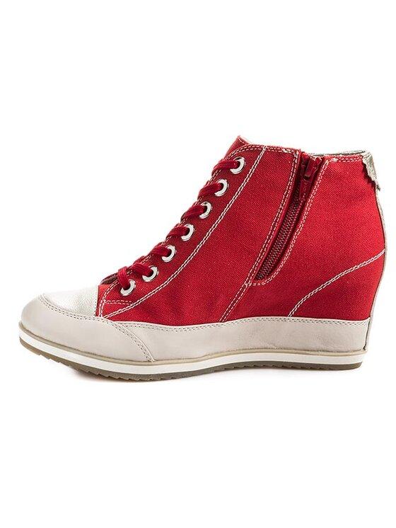 Geox Geox Sneakersy D Illusion A D4254A 01085 C7040 Červená