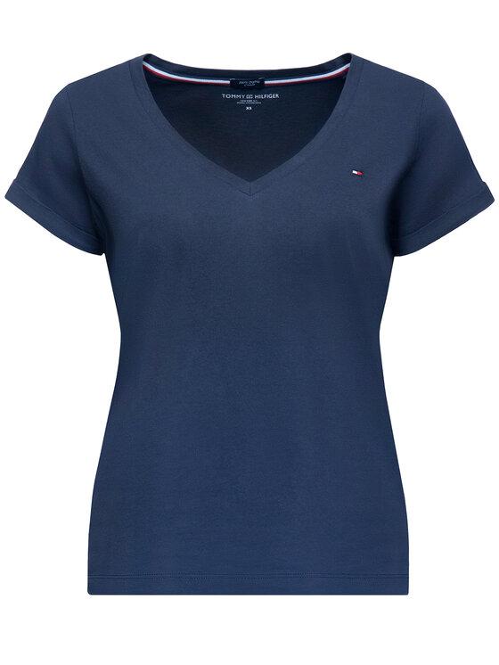 Tommy Hilfiger Tommy Hilfiger T-Shirt Low V UW0UW00676 Dunkelblau Regular Fit
