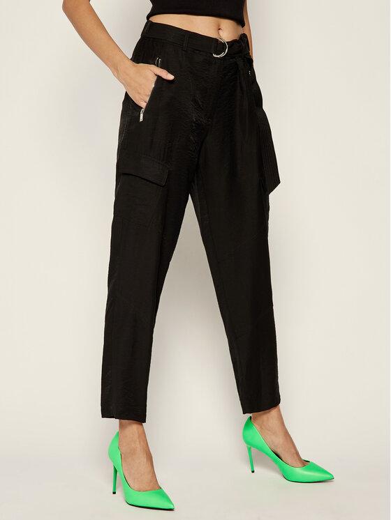 DKNY Spodnie materiałowe P9DKNB5F Czarny Regular Fit