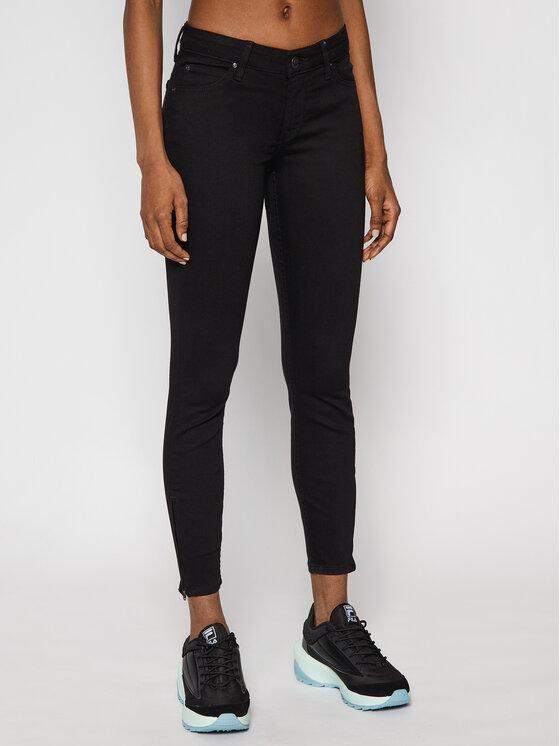 Lee Jeansy Skinny Fit Scarlett Cropped L30CFS47 Czarny Skinny Fit