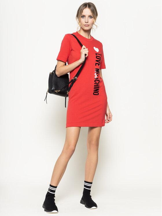 LOVE MOSCHINO LOVE MOSCHINO Kasdieninė suknelė W5A0212M 4165 Raudona Regular Fit