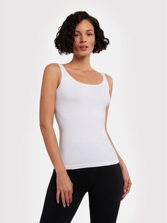Wolford Marškinėliai Jamaika 55035 Balta Close Fit