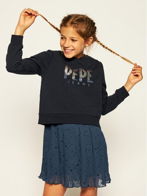 Pepe Jeans Sukienka codzienna Tilda PG951336 Granatowy Regular Fit
