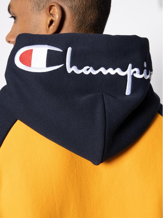 Champion Champion Džemperis Script Bicolor 214277 Geltona Regular Fit
