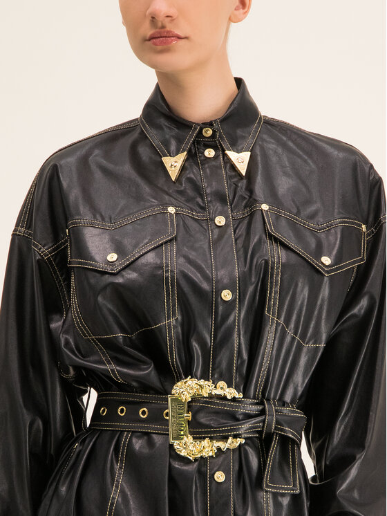 Versace Jeans Couture Versace Jeans Couture Рокля тип риза D2HUA402 Черен Regular Fit