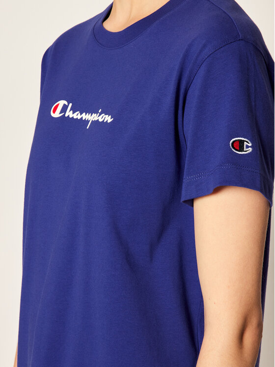 Champion Champion T-Shirt Tee 113599 Fioletowy Regular Fit