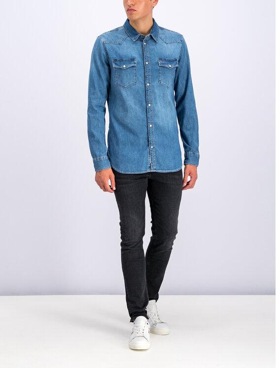 Tommy Jeans Tommy Jeans Риза DM0DM06667 Тъмносин Regular Fit