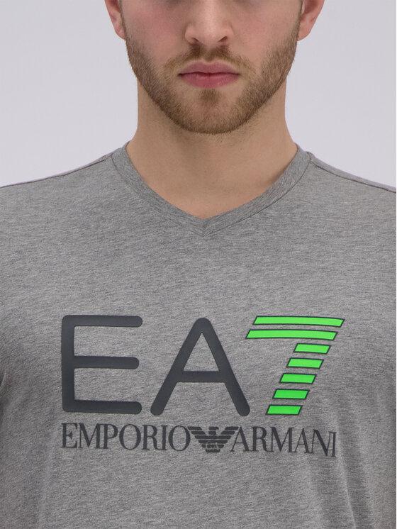 EA7 Emporio Armani EA7 Emporio Armani Póló 3GPT02 PJ03Z 3905 Szürke Slim Fit